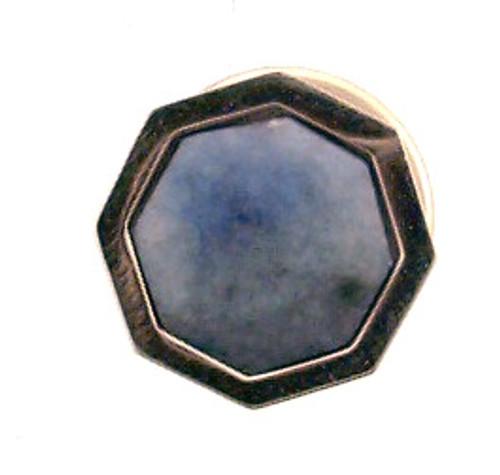14 karat yellow gold blue stone tie tack. Originla Price $90 - 40%=$54