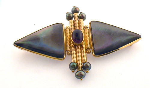 14 karat yellow gold Donna Chambers original pin. Original sale price $625 - 40% = $375