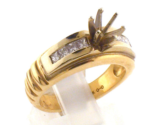 14 karat yellow gold Diamond ring with no center stone. The ring size is a 6.5. The diamond total weight is .39ct. Weight is 6.7 grams. Original sale price $1325 - 40% = $795
