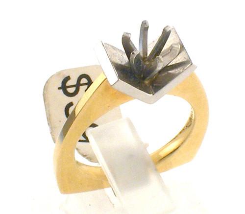 14 karat 2 tone diamond remount ring weighing 7.9 grams