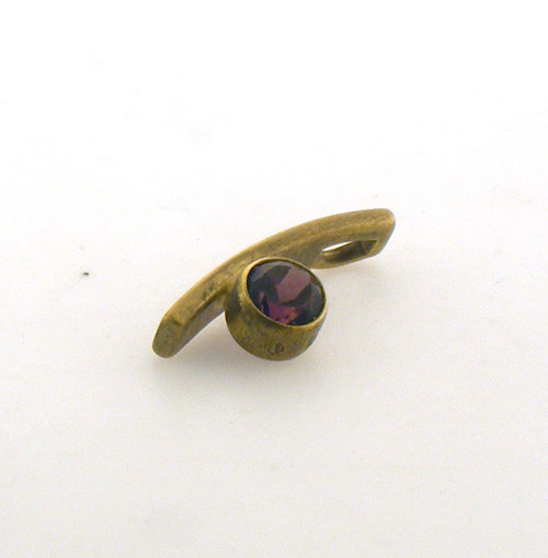 14 karat yellow gold garnet pendant. Original price $115 - 40% = $69