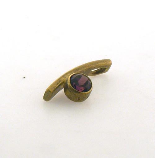 14 karat yellow gold garnet pendant. Original price $115 - 40% = $69