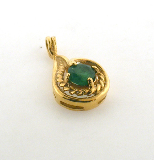 14 karat yellow gold emerald pendant. Original price $225 - 40% = $135