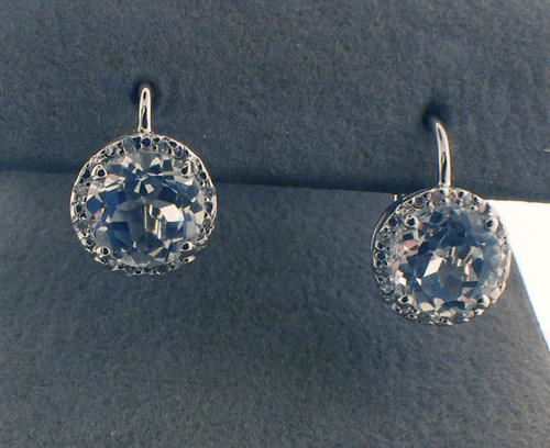 Sterling silver cz stud earrings. The total weight of the earrings are 2.8 grams.     *Two pairs in stock*