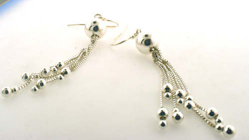 Sterling silver drop earrings. The total weight of the earrings are 4.2 grams.