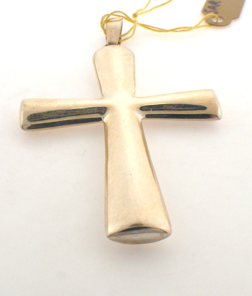 Sterling silver cross pendant. The total weight of the pendant is 7.9 grams. Any chain would be sold separately.