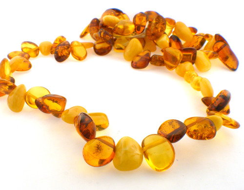 Amber Nugget Necklace. The total weight of the necklace is 40.5 grams.