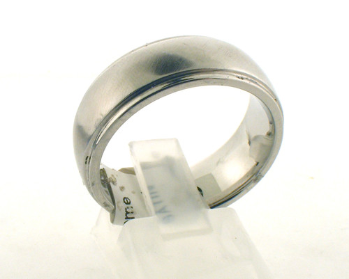 Cobalt chrome wedding ring. The total weight of the ring is 10.1 grams and is made for a finger size of 9.75.