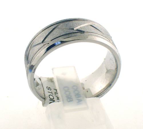 Cobalt chrome flat-weave wedding ring. The total weight of the ring is 9.2 grams and is made for a finger size of 10.