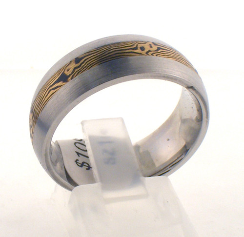 Cobalt chrome/18ysh satin wedding ring. The total weight of the ring is 10.1 grams and is made for a finger size of 10.
