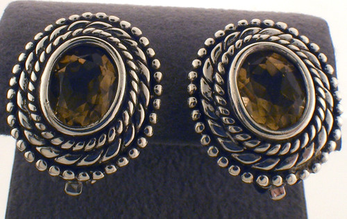 Sterling silver and citrine earrings. The total weight of the earrings are 13 grams.