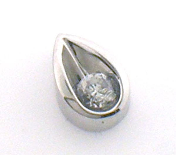 14 karat white gold diamond pendant weighing 1.4 grams,  Diamond is approx .25ct tw.  H-I, SI2
