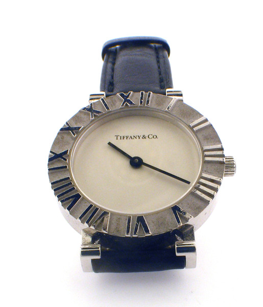 Sterling Silver Tiffany Atlas watch 29mm case in excellent condition. With Box