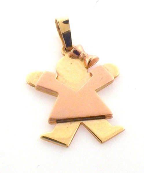 14 karat yellow gold child pendant. original sale price $294-40% = 176.4