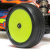 Wheels Included  TLR Kits still include a full set of fluorescent yellow wheels to get racers on the track quickly. The 22 5.0 does include the new Stiffezel front wheels which provide more consistent front grip, and more steering in high load turns.