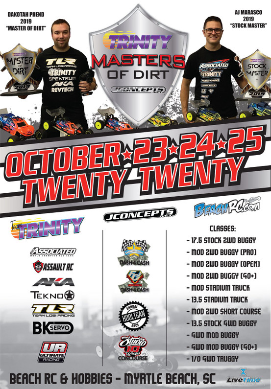 Master of Dirt 2020: October 23rd through the 25th.  Sing up now!