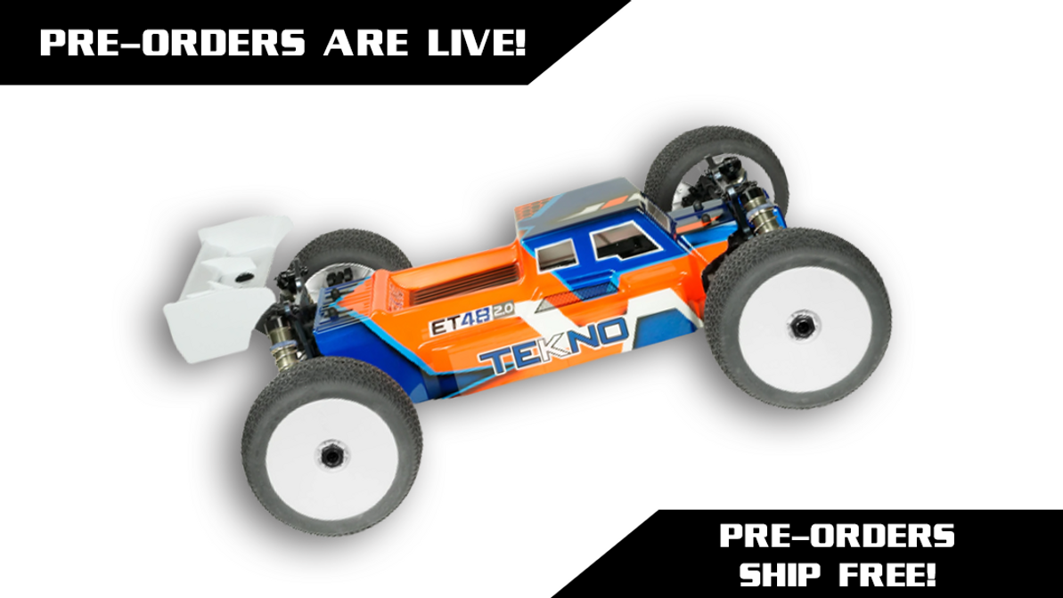 Tekno RC ET48 2.0 1/8th 4WD Competition Electric Truggy Kit (TKR9600)Pre-Orders Ship For Free!