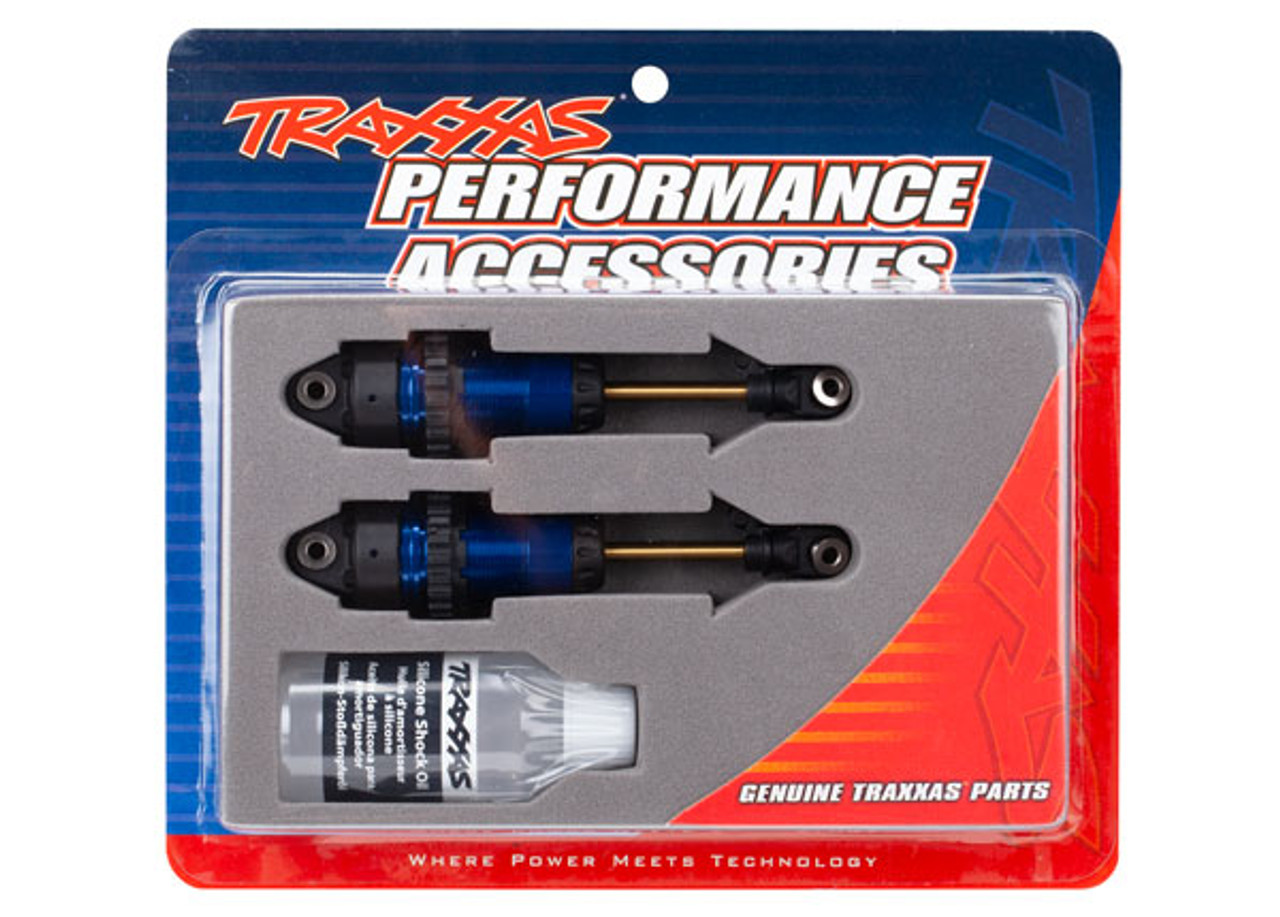 Traxxas Rustler/Slash 4x4 GTR Long Shocks (Blue)
