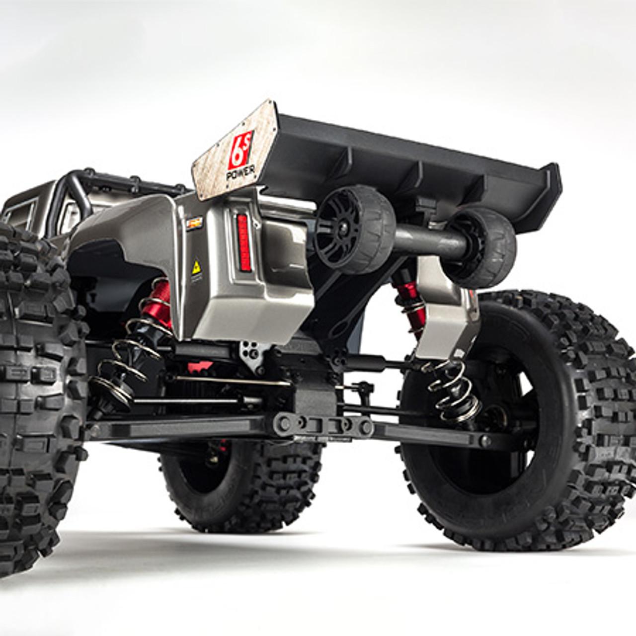 Arrma Outcast 6S BLX Brushless RTR Monster Stunt Truck (Silver)