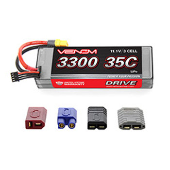 VENOM DRIVE LiPo 3S 11.1V 3300mah 35C Hardcase Lipo with Universal Plug