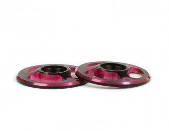 Triad Wing Buttons | Dual Black / Red