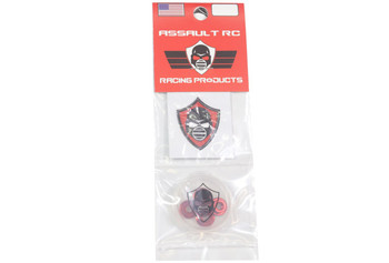 Assault RC Revolver M4 Serrated Wheel Nut Set (Red) (4)