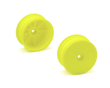 Serpent 12mm Hex 1/10 4WD Front Buggy Wheels (2) (SRX-4) (Yellow)