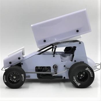 1RC Racing 1/18 Sprint Car RTR (White)