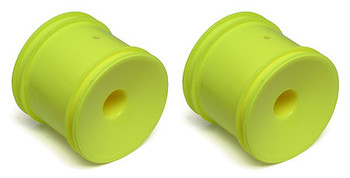 Team Associated 12mm Hex Stadium Truck Dish Wheel (2) (Yellow) (ASC7853)
