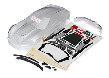 Traxxas Chevrolet Corvette Z06 Body (clear) with decal sheet (includes side mirrors, spoiler, & mounting hardware) (TRA8386)