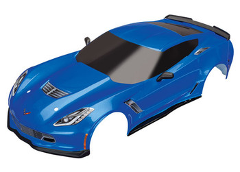 Traxxas Chevrolet Corvette Z06 Body with Decals (Blue) (TRA8386X)
