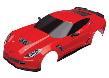 Traxxas Chevrolet Corvette Z06 Body with Decals (Red) (TRA8386R)