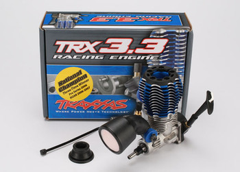 Traxxas TRX 3.3 Rear Exhaust IPS Shaft Standard Plug, Slide Carb Engine (Pull Start)