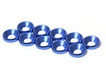 JQRacing M3 CS Washer 10pcs (Blue) (JQA0031)