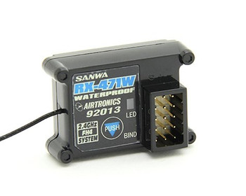 Sanwa/Airtronics RX-471W 2.4Ghz FHSS-4 Waterproof 4-Channel Receiver (M12/MT4) (SNW107A41134A)