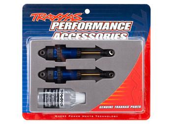 Traxxas Rustler/Slash 4x4 GTR Long Shocks (Blue) (TRA7461)