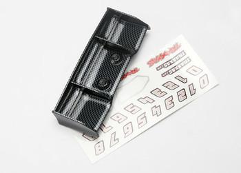 Traxxas 1/16 E-Revo Wing w/Decal Sheet (Exo-Carbon Finish) (TRA7122G)