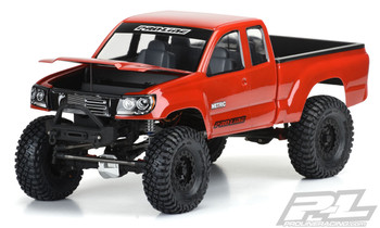 "Pro-Line Builder's Series: Metric 12.3"" Rock Crawler Body (Clear) w/Cab, Bed & Opening Hood"