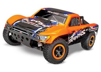 Traxxas Slash 4X4 VXL Brushless 1/10 4WD RTR Short Course Truck w/TQi & TSM (Orange)