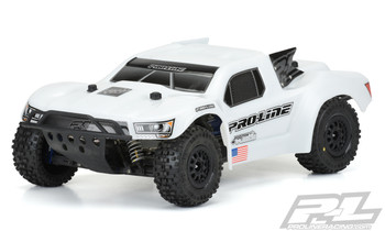 Pro-Line Flo-Tek Pre-Cut Bash Armor Short Course Truck Body (White) (PRO3458-15)
