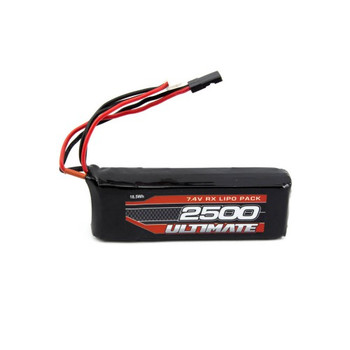 Ultimate Racing 7.4v 2500mAh LiPo Flat Receiver Pack (JR) (UR4451)