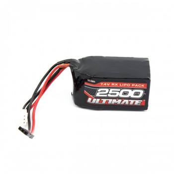 Ultimate Racing 7.4v 2500mAh LiPo Hump Receiver Pack (JR) (UR4452)