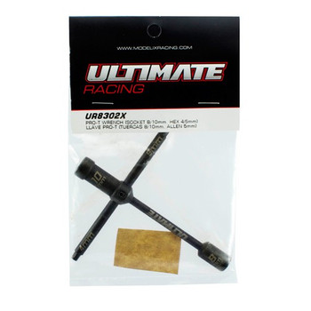 Ultimate Racing Pro-T Glow Plug Wrench (Socket 8/10mm & Hex 5mm) (UR8302X)