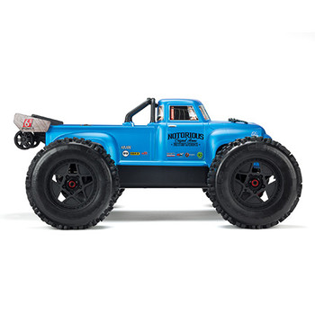 Arrma Notorious 6S BLX Brushless RTR 1/8 Monster Stunt Truck (Blue) w/STX2 2.4GHz Radio