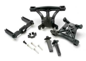 Traxxas Revo Body Mounts front & rear w/body mount posts, front & rear, 2.5x18mm (TRA5314)