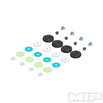 MIP Tekno 16mm 6+6 Hole Bypass1 Piston Set (4)