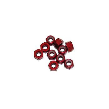Ultimate Racing 3mm Aluminum Nylock Nut (Red) (10pcs) (UR1502-R)