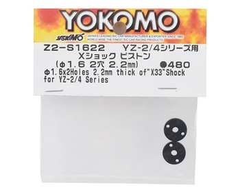 Yokomo X33 X 2.2mm Shock Piston Set (2) (2x1.6mm)