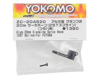 Yokomo 20mm Aluminum Clamping Servo Horn (25T-ProTek/Futaba)