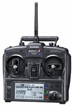 Sanwa EXZES ZZ 4-channel stick Transmitter w/ RX-472 Receiver - no servos